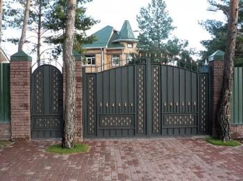 Ворота и калитка из металла - изготовленные с не обычным рисунком