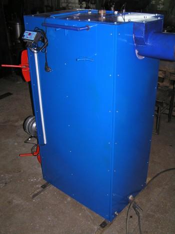 Синий пиролизный котел украинского производства