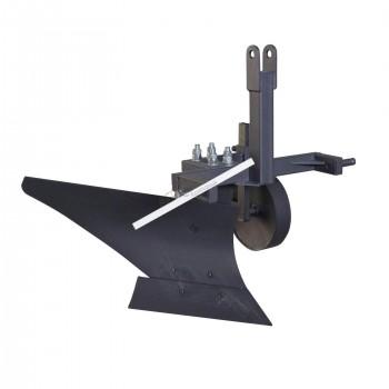 Плуг однокорпусный для минитрактора (опорное колесо, прицепное 3 точки)