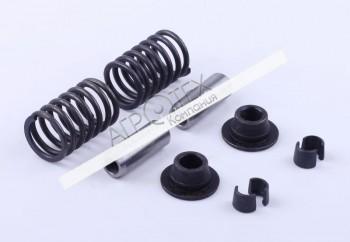 Клапанный механизм комплект (пружины, тарелки, сухари, направл.) на 2 кл. — 195N