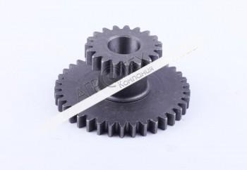 Шестерня повышенной/пониженной передачи неподвижная Z-19/37 (старого образца) Xingtai 120/220