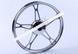 Диск передний литой, барабанный тормоз 17*1,2 (silver) 2,5kg — Дельта/Альфа