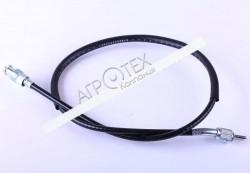 Трос спидометра SX L-840mm (верх квадрат — внутрення резьба, низ вилка — наружная резьба) — Актив