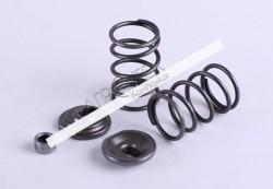 Клапанный механизм комплект (пружины, сухари, тепл.компенсаторы на 2 клапана) — 168F