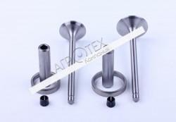 Клапана пара комплект (направляющие + седла) KM130/138 Xingtai 24B, Shifeng 244,Taishan 24