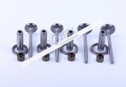 Клапана впуск + выпуск (к-т направляющие с седлами) TY295 Xingtai 220/224