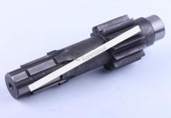 Вал КПП №5 L-227mm, Z-6/13 Xingtai 24B, Shifeng 244,Taishan 24