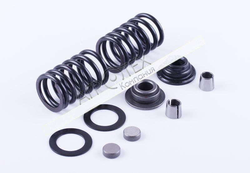 Клапанный механизм комплект (пружины, тарелки, сухари…) на 2 кл. — 186F