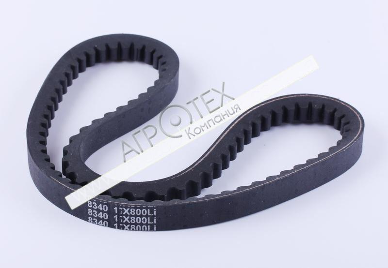 Ремень 17*800 зубчатый (L-420mm*2) — 168F