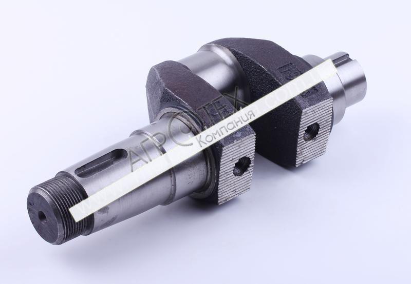 Коленвал голый (ZUBR original) под резьбу O14 mm — 195N