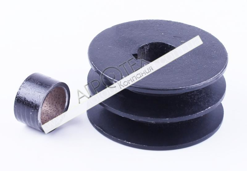 Шкив ремня ведущий 2 ручья под коленвал O25mm — 177F