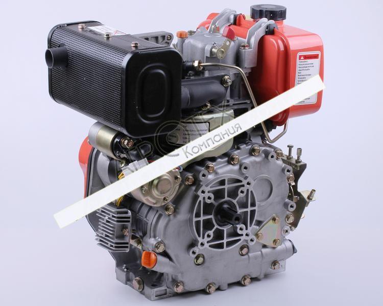 Двигатель 178FE — (под шлицы Ø25 mm) (6 л.с.) с электростартером
