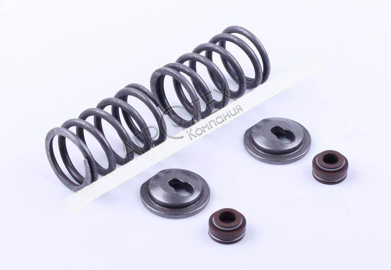 Клапанный механизм комплект (пружины, тарелки, сальн.клап.) на 2 кл. — 188F